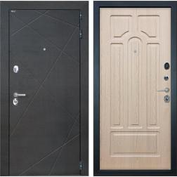 Входная дверь Интекрон Сенатор Лучи ФЛ-58 (Венге распил кофе / Белёный дуб)