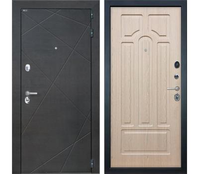 Входная металлическая дверь Интекрон Сенатор Лучи ФЛ-58 (Венге распил кофе / Белёный дуб)