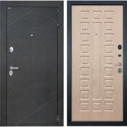 Входная дверь Интекрон Сенатор Лучи ФЛ-183 (Венге распил кофе / Белёный дуб)