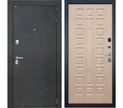 Входная металлическая дверь Интекрон Сенатор Лучи ФЛ-183 (Венге распил кофе / Белёный дуб)