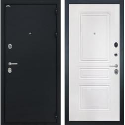 Входная стальная дверь Интекрон Колизей ФЛ-243-М (Чёрный шелк / Белая матовая)