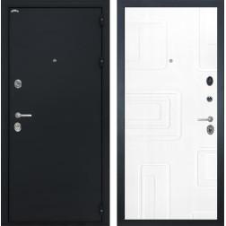 Входная стальная дверь Интекрон Колизей Элит (Чёрный шелк / Роял Вуд белый)
