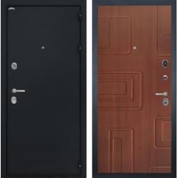 Входная стальная дверь Интекрон Колизей Элит (Чёрный шелк / Лиственница кофе)