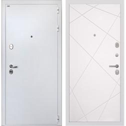 Входная дверь Интекрон Колизей White Лучи-М (Белая шагрень / Софт Милк)
