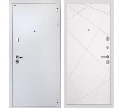 Входная стальная дверь Интекрон Колизей White Лучи-М (Белая шагрень / Софт Милк)