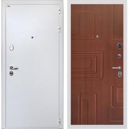 Входная дверь Интекрон Колизей White Элит (Белая шагрень / Лиственница кофе)