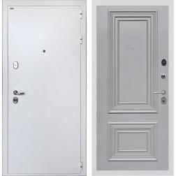 Дверь Интекрон Колизей White Сан Ремо 2 (Белая шагрень / Пыльно-серый RAL 7037)
