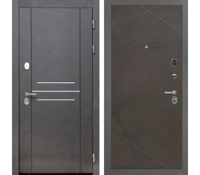 Входная металлическая дверь Интекрон Сенатор Лофт Лучи-М (Венге распил кофе)