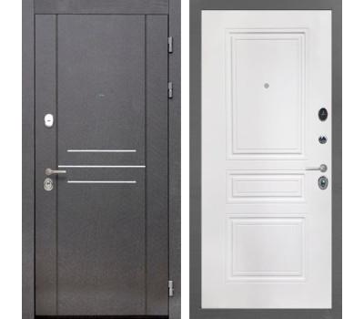 Входная металлическая дверь Интекрон Сенатор Лофт ФЛ-243-М (Белая матовая)