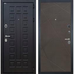 Входная дверь Интекрон Сенатор Лучи-М (Венге / Венге распил кофе)