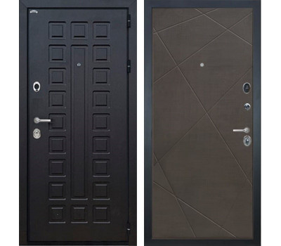 Входная металлическая дверь Интекрон Сенатор Лучи-М (Венге / Венге распил кофе)
