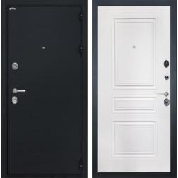 Входная дверь Интекрон Греция ФЛ-243-М (Чёрный шелк / Белый матовый)