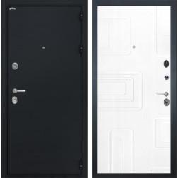 Входная дверь Интекрон Греция Элит (Чёрный шелк / Роял Вуд белый)