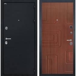 Входная дверь Интекрон Греция Элит (Чёрный шелк / Лиственница кофе)