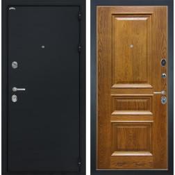 Входная дверь Интекрон Греция Валентия-2 Шпон (Черный шелк / Дуб бренди)
