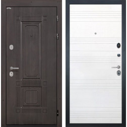 Входная металлическая дверь Интекрон Италия ФЛ-316 (Венге / Ясень белый)