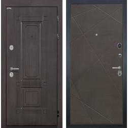 Входная дверь Интекрон Италия Лучи-М (Венге / Венге распил кофе)