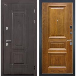 Входная металлическая дверь Интекрон Италия Валентия-2 Шпон (Венге / Дуб бренди)