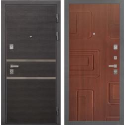 Входная металлическая дверь Интекрон Неаполь Элит (Лен Сильвер / Лиственница кофе)