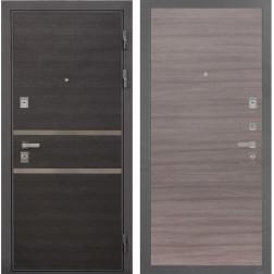 Входная металлическая дверь Интекрон Неаполь (Лен Сильвер / Дуб Тоскано)