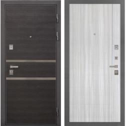 Входная металлическая дверь Интекрон Неаполь L-5 (Лен Сильвер / Сандал белый)