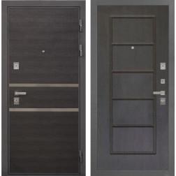 Входная металлическая дверь Интекрон Неаполь ФЛ-39 (Лен Сильвер / Орех премиум)