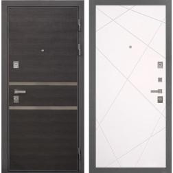 Входная металлическая дверь Интекрон Неаполь Лучи-М (Лен Сильвер / Софт Милк)