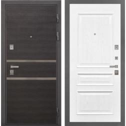 Входная дверь Интекрон Неаполь Валентия-2 Шпон (Лен Сильвер / Ясень жемчуг)