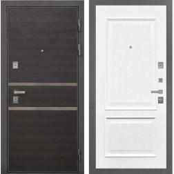 Входная дверь Интекрон Неаполь Валентия-4 Шпон (Лен Сильвер / Ясень жемчуг)