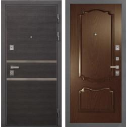 Входная дверь Интекрон Неаполь Позитано Шпон (Лен Сильвер / Дуб бургундский)