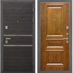 Входная дверь Интекрон Неаполь Валентия-2 Шпон (Лен Сильвер / Дуб бренди)