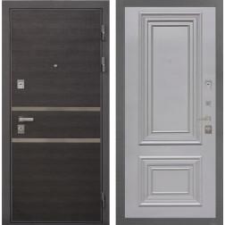 Входная дверь Интекрон Неаполь Сан Ремо-2 (Лен Сильвер / Пыльно-серый RAL 7037)