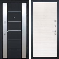 Входная дверь Интекрон Вельс (Черный металлик / Дуб сильвер)