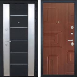 Входная дверь Интекрон Вельс Элит (Чёрный металлик / Лиственница кофе)