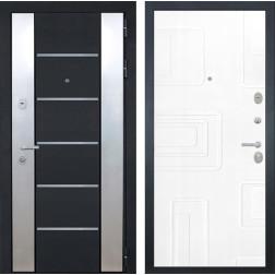 Входная дверь Интекрон Вельс Элит (Чёрный металлик / Роял Вуд белый)
