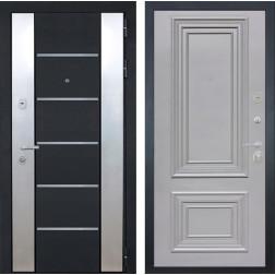 Входная дверь Интекрон Вельс Сан Ремо-2 (Черный металлик / Пыльно-серый RAL 7037)