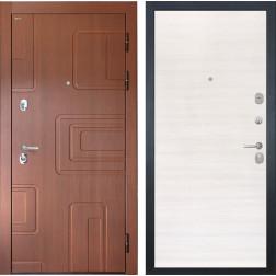 Входная стальная дверь Интекрон Элит (Лиственница кофе / Дуб Сильвер)