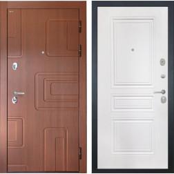 Входная дверь Интекрон Элит ФЛ-243-М (Лиственница кофе / Белый матовый)