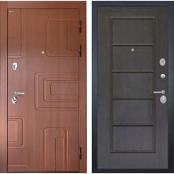 Входная стальная дверь Интекрон Элит ФЛ-39 (Лиственница кофе / Орех премиум)