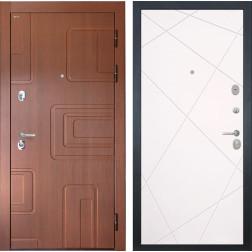 Входная стальная дверь Интекрон Элит Лучи-М (Лиственница кофе / Софт Милк)
