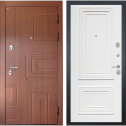 Входная дверь Интекрон Элит Сан Ремо 1 (Лиственница кофе / Сигнальный белый RAL 9003)