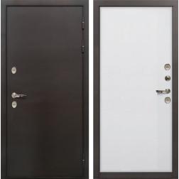 Входная дверь с терморазрывом Лекс Термо Сибирь 3К Ясень белый (панель №62)