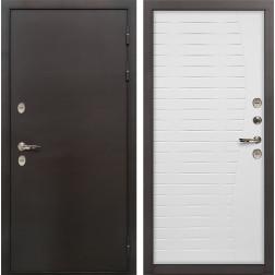 Входная дверь с терморазрывом Лекс Термо Сибирь 3К Ясень белый (панель №36)