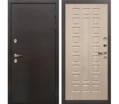 Входная металлическая дверь с терморазрывом Лекс Термо Сибирь 3К Беленый дуб (панель №20)
