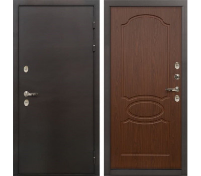Входная металлическая дверь с терморазрывом Лекс Термо Сибирь 3К Берёза мореная (панель №12)