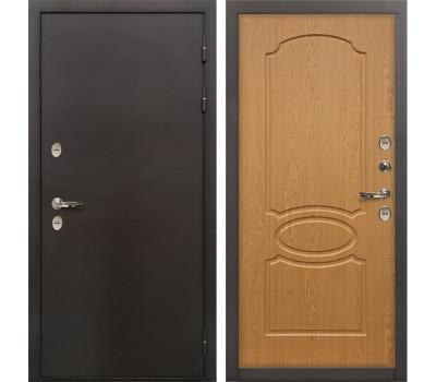 Входная металлическая дверь с терморазрывом Лекс Термо Сибирь 3К Дуб натуральный (панель №15)