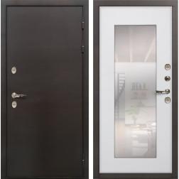 Дверь с терморазрывом Лекс Термо Сибирь 3К с Зеркалом Ясень белый (панель №37)
