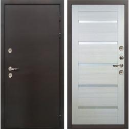 Дверь с терморазрывом Лекс Термо Сибирь 3К Клеопатра-2 Беленый дуб (панель №58)