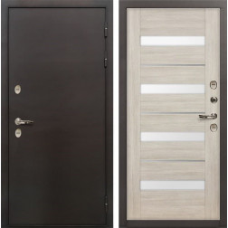 Дверь с терморазрывом Лекс Термо Сибирь 3К Сицилио Ясень кремовый (панель №48)