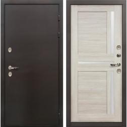 Входная дверь с терморазрывом Лекс Термо Сибирь 3К Баджио Ясень кремовый (панель №49)